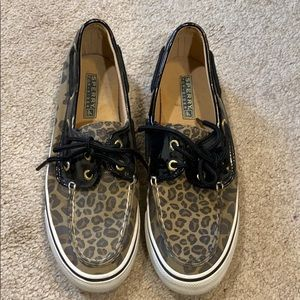 Sperry topsider leopard